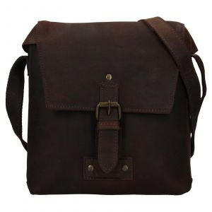 Pánská kožená taška přes rameno Ashwood Sam – tmavě hnědá 111843