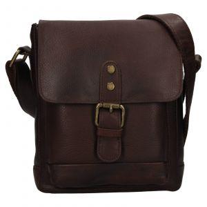 Pánská kožená taška přes rameno Ashwood Tom – tmavě hnědá 111837