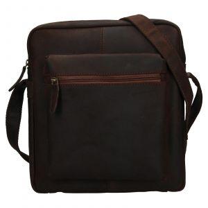 Pánská kožená taška přes rameno Ashwood Ryan – tmavě hnědá 111835