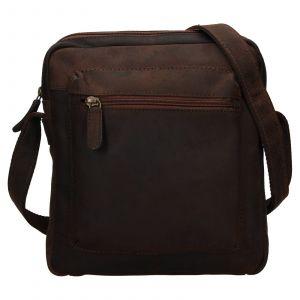 Pánská kožená taška přes rameno Ashwood Patrick – tmavě hnědá 111831