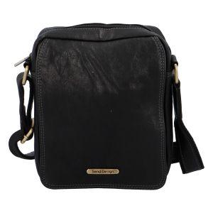 Pánská kožená taška na doklady přes rameno černá – SendiDesign Didier SP černá 308760