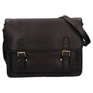 Pánská kožená taška přes rameno Ashwood Satls – tmavě hnědá 111870