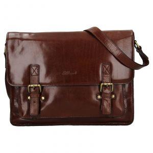 Pánská kožená taška přes rameno Ashwood Satls – koňak 111869