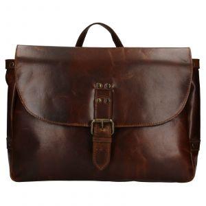 Pánská kožená taška přes rameno Ashwood Copper – tmavě hnědá 111877