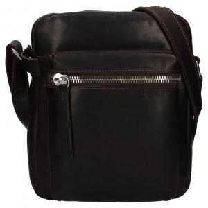 Pánská kožená taška přes rameno Ashwood Bertram – hnědá 111876