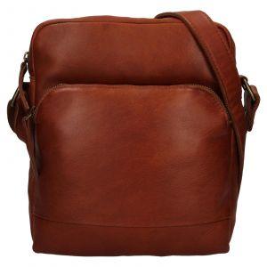Pánská kožená taška přes rameno Ashwood Tommas – koňak 111873