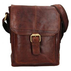 Pánská kožená taška přes rameno Ashwood Lincoln – tmavě hnědá 111897