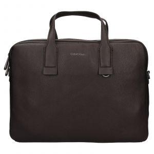 Pánská taška na notebook Calvin Klein Enrique – tmavě hnědá 111901