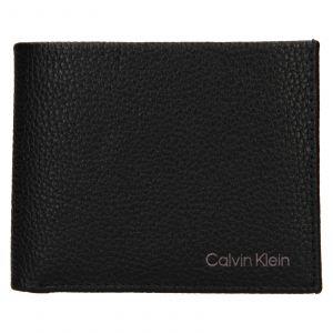 Pánská kožená peněženka Calvin Klein Delne – černá 111911