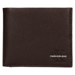 Pánská kožená peněženka Calvin Klein Seba – hnědá 111910