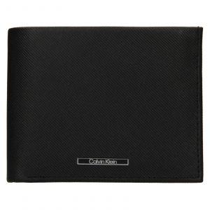 Pánská kožená peněženka Calvin Klein Kryst – černá 112075