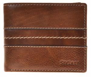 SEGALI Pánská kožená peněženka 3984 tan msg0111