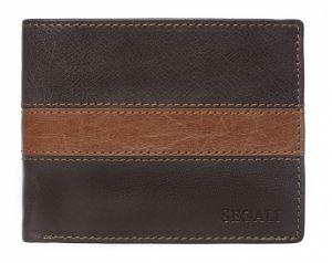 SEGALI Pánská kožená peněženka 81096 brown/tan msg0112