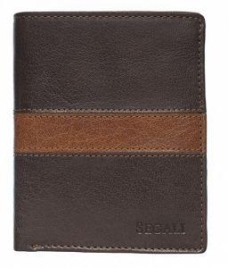 SEGALI Pánská kožená peněženka 81095 brown/tan msg0113
