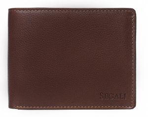 SEGALI Pánská kožená peněženka 81047 brown msg0114