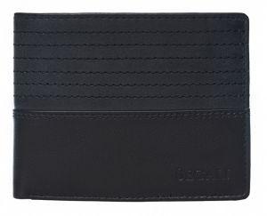 SEGALI Pánská kožená peněženka 80894 black/grey msg0116
