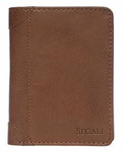 SEGALI Pánská kožená peněženka 80883 tan msg0118