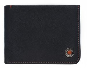 SEGALI Pánská kožená peněženka 4992 black/orange msg0119
