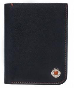 SEGALI Pánská kožená peněženka 4991 black/orange msg0120