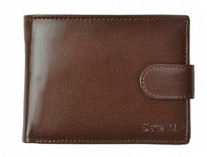 SEGALI Pánská kožená peněženka 2511 brown msg0122