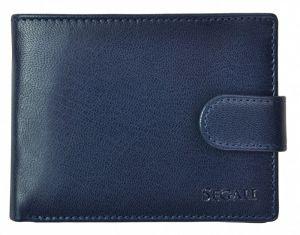 SEGALI Pánská kožená peněženka 2511 blue msg0123