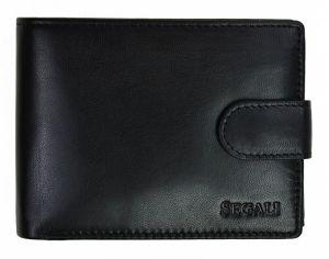 SEGALI Pánská kožená peněženka 2511 black msg0124