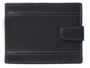 SEGALI Pánská kožená peněženka 61285 black msg0138