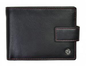 SEGALI Pánská kožená peněženka 907 114 2007 C black/red msg0146