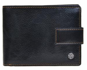 SEGALI Pánská kožená peněženka 907 114 2007 C black/cognac msg0147