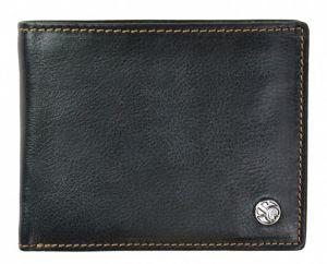 SEGALI Pánská kožená peněženka 907 114 026 black/cognac msg0148
