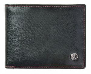 SEGALI Pánská kožená peněženka 907 114 026 black/red msg0149