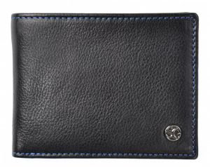 SEGALI Pánská kožená peněženka 907 114 026 black/blue msg0150