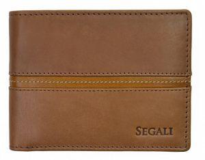 SEGALI Pánská kožená peněženka 720 137 2007 brown/cognac msg0154
