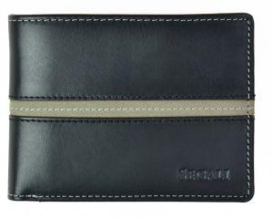 SEGALI Pánská kožená peněženka 720 137 2007 black/grey msg0155