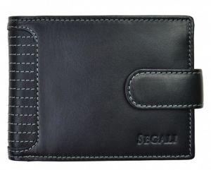 SEGALI Pánská kožená peněženka 572 665 005 C black msg0156