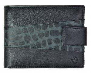 SEGALI Pánská kožená peněženka 61325 CC black msg0157