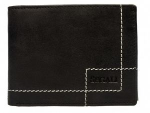 SEGALI Pánská kožená peněženka 02 black msg0164