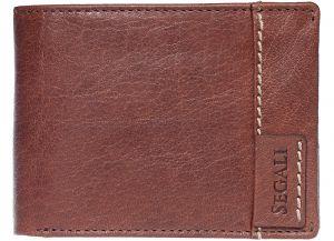 SEGALI Pánská kožená peněženka 3490 brown msg0169