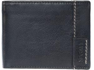 SEGALI Pánská kožená peněženka 3490 black msg0170