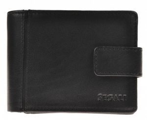 SEGALI Pánská kožená peněženka 3491 black msg0171