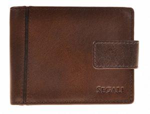SEGALI Pánská kožená peněženka 3491 brown msg0172