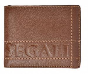 SEGALI Pánská kožená peněženka 19052 tan msg0174