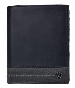 SEGALI Pánská kožená peněženka 951 320 2519 black/grey msg0179
