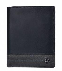 SEGALI Pánská kožená peněženka 951 320 2553 black/grey msg0180