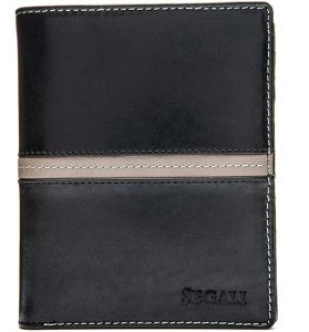 SEGALI Pánská kožená peněženka 720 137 2553 black/grey msg0181