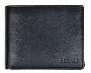 SEGALI Pánská kožená peněženka 7265 black msg0185