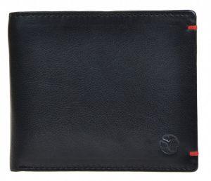 SEGALI Pánská kožená peněženka 7108 black msg0186