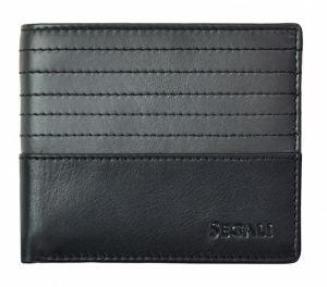 SEGALI Pánská kožená peněženka 7414 S black/grey msg0188