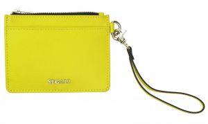 SEGALI Kožená mini peněženka-klíčenka 7290 A neon lime msg0209