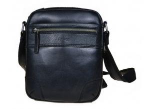SEGALI Pánská kožená crossbody taška 25577 Black msg0282